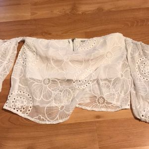 guess strapless top